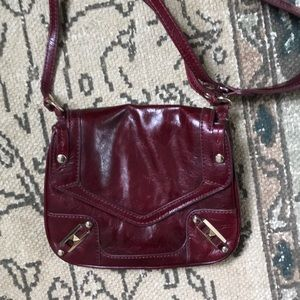 Rebecca Minkoff May May burgundy leather crossbody